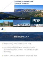 Colorado perception study executive summary