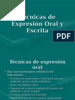 Tecnicas de Expresion Oral y Escrita