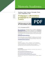 Pedagogos y Movimientos en América Latina