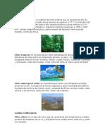 Tipos de Clima y Sus Países