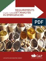 Minimum Requirements for Market Analysis in Emergencies