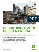 Rebuilding a More Resilient Nepal