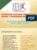 Extensión Cultural, Proyección Social y Propiedad Intelectual.