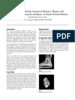 Anterior Talofbular Ligament RuptureRepair and Reinforcement Using DermaSpan Acellular Dermal Matrix