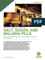 Salt, Sugar, and Malaria Pills