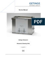 Getinge Ultrasonic Cleaner - Service Manual