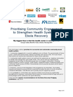 Prioritising Community Engagement to Strengthen Health Systems in Ebola Recovery