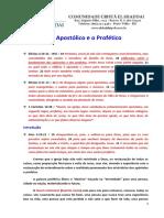 O Apostólico e o Profético