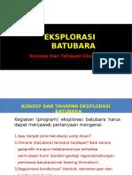 1. Tahapan Dan Eksplorasi Batubara