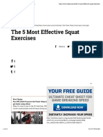 The 5 Most Effective Squat Exercises