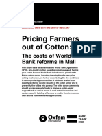Pricing Farmers out of Cotton