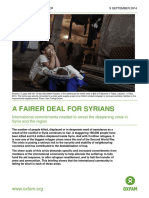 A Fairer Deal for Syrians
