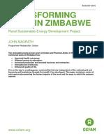 Transforming Lives in Zimbabwe