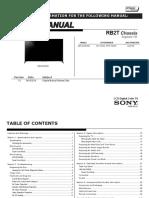Sony Xbr-65x950b Rb2t Chassis Seg.hx Ver.1.0