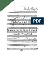 Sonata Per La Grand Viola