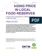 Managing Price Risk in Local Food Reserves