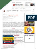 Región Lima - -- PERUENLINEA-- Noticias...Ochiri, Cual Es El Nombre Del Año 2013