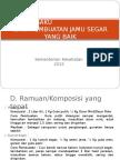 Ramuan-Komposisi Jamu Segar
