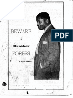 Beware My Brother Forbes by Jessie Burnham