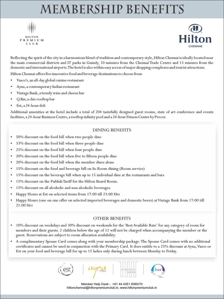 SOB Hilton Chennai | Bar | Workweek And Weekend