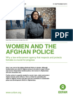 Women and the Afghan Police