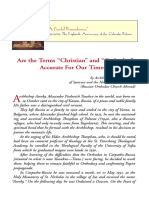 """Are the Terms """"Christian"""" and """"Orthodox"""" Accurate For Our Times?"""