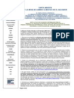 Carta Abierta de La MCC-SLV Posterior a La Ratificación Del Acuerdo de Paris Por El Estado Salvadoreño - 17Mar2017