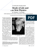 Vernadsky - The Study of Life and the New Physics