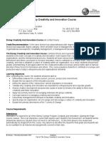 Creativity & Innovation Course