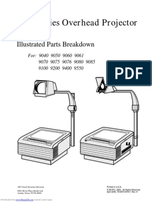 3M 9200 Overhead Projector | Equipment | Manufactured Goods