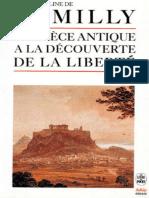 La Grèce antique à la découverte de la liberté - Jacqueline de Romilly.epub