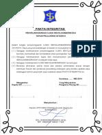 Contoh Pakta Integritas Us m 2014 Opt1