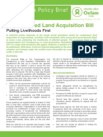 The Proposed Land Acquisition Bill