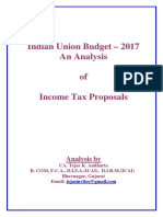 29358 20170209204156 Union Budget 2017 Analysis of Income Tax Proposals