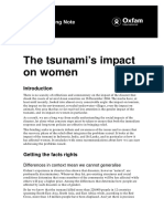 The Tsunami's Impact on Women