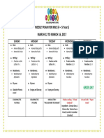 Weekly Plan 12 March to 16 March