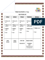 Weekly Plan Mar 5 to Mar 9