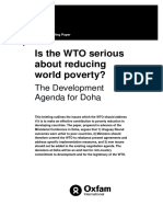 Is the WTO Serious About Reducing World Poverty? The Development Agenda for Doha