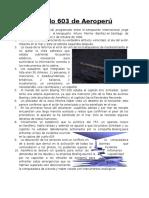 Trabajo de Aptitud Academica Vuelo 603 de Aeroperú