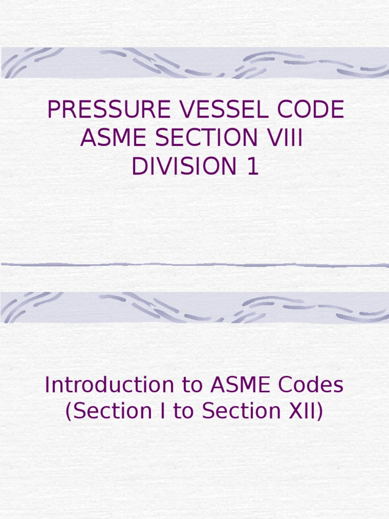 Asme Section 1