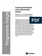 Local Governance and Community Action