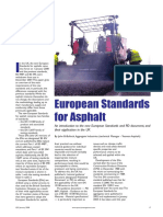 European Standards for Asphalts