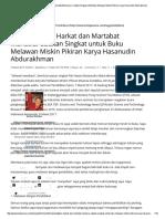Memantapkan Harkat Dan Martabat Manusia Catatan Singkat Untuk Buku Melawan Miskin Pikiran Karya Hasanudin Abdurakhman