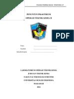 Buku Penuntun Laboratorium Operasi Teknik Kimia II