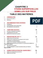 Chapitre 3 - Les Fondations Superficielles Et Les Semelles Sur Pieux