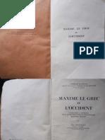 Maxime le Grec et l'Occident_par Denissoff, Elie (1893-19..)_1943