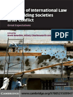 2009 - Role of International Law in Rebuilding Societies After Conflicts