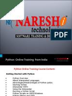 Python Online Training in Hyderabad