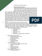 Karakteristik Dan Lingkungan Sektor Publik