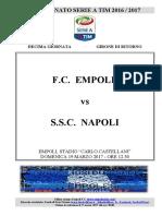 Empoli Napoli 29giornataseriea